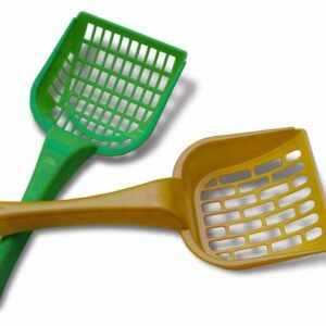 Cat's Best Litter Scoop - Green and Gold | chefs4pets
