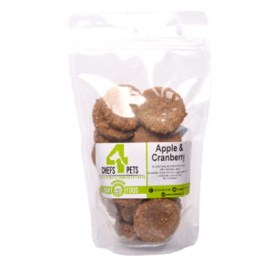 Apple and Cranberry Dog Biscuits | raw dog food | raw pet food | Chefs4Pets