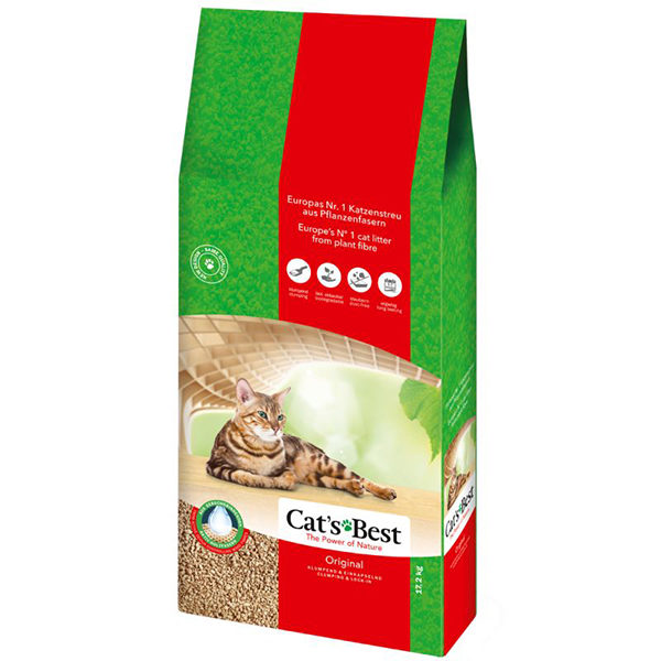 Cats Best Original 17.2Kg/ 40L Clumping ECO cat litter | Chefs4Pets|