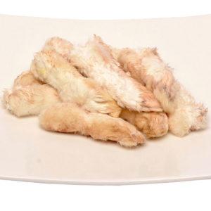 Dried Rabbit feet | raw cat food | raw dog food |raw pet food | Chefs4Pets