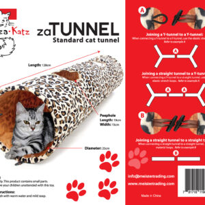 zaTunnel Pet Crinkle Tunnel | chefs4pets