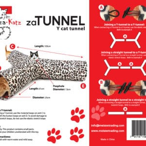 zaTunnel 3 Way Y Pet Crinkle Tunnel | chefs4pets
