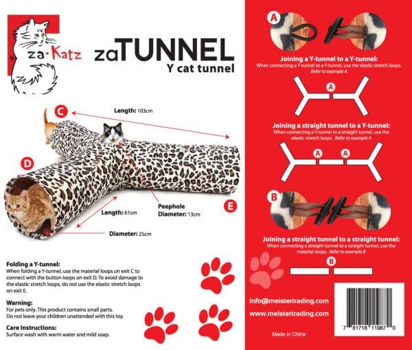 zaTunnel 3 Way Y Pet Crinkle Tunnel | chefs4pets