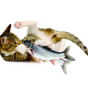 zaFish Touch Activated Interactive Flopping Fish | zaKatz | cat toy | Chefs4Pets| Interactive