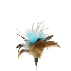 zaBouncer - Feather Crinkle Teaser (Blue) | chefs4pets