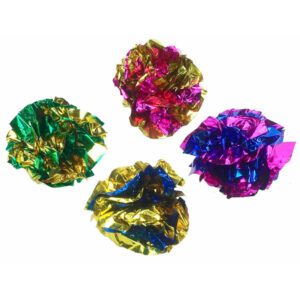zaCrinkle Mylar Foil Cat Balls | cat balls | cat toy | chefs4pets
