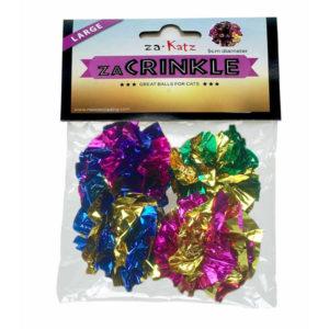 zaCrinkle Mylar Foil Cat Balls (5cm)| chefs4pets