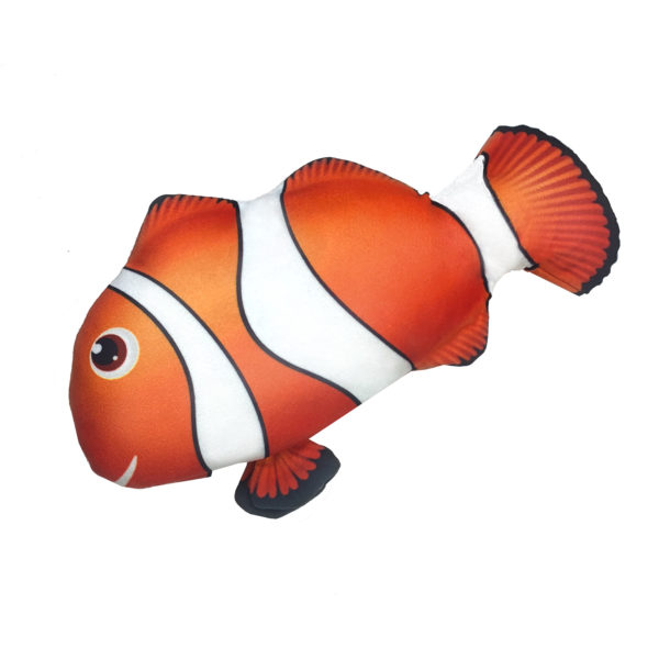 zaFish Touch Activated Interactive Flopping Clown Fish | zaKatz | cat toy | Chefs4Pets| Fish